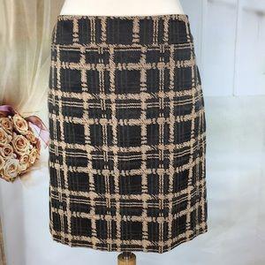 Ann Taylor Plaid Career Skirt